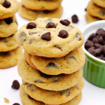 Soft and Chewy Chocolate Chip Cookies- the PERFECT chocolate chip cookie recipe! Golden on the outside and chewy on the inside, with the help of a surprising secret ingredient! And they just so happen to be dairy free. | passthechallah.com