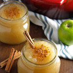 Homemade Applesauce- An easy and delicious recipe for homemade applesauce. Made with just apples, lemon juice, and sugar, and it comes together so quickly. You'll never eat store bought applesauce again! passthechallah.com