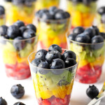 Rainbow Fruit Cups- These rainbow fruit cups are completely stunning and guaranteed to steal the show! The perfect recipe to add elegance to your next occasion. passthechallah.com